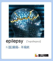 金山词霸单词epilepsy